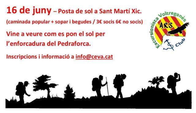 Posta de sol a Sant Martí Xic - 16 de juny